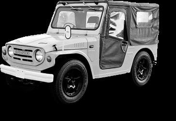 1970 O mundo off-road nunca mais seria o mesmo a partir deste ano, quando chegou o Jimny. Com 360 cilindradas, ele conquistou o mundo e foi ganhando versões mais modernas, mas continua sendo um genuíno 4x4.