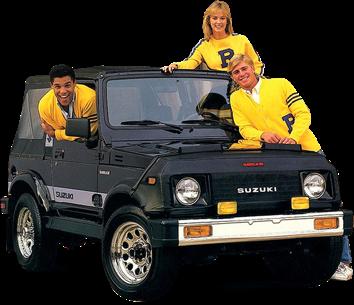 1985 Guerreiro e forte como um Samurai. Sabe o Jimny, criado nos anos 50? O modelo do Samurai foi baseado nele. O jipe de preço acessível e com tração nas quatro rodas passou a ser vendido nos Estados Unidos. Só no primeiro ano, foram vendidas 47 mil unidades.