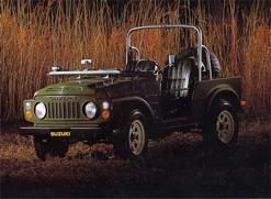 1977 Mais um desafio superado: o mercado europeu. Neste ano lançamos o Jimny 8, também conhecido como LJ80, na Austrália e na Holanda. E logo ele já estava na Europa toda. Um 4x4 vai para todo lugar mesmo!